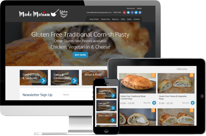 Made Marion Gluten Free website