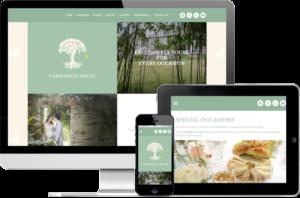 Carwinion House responsive website design