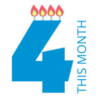It's our 4th birthday!