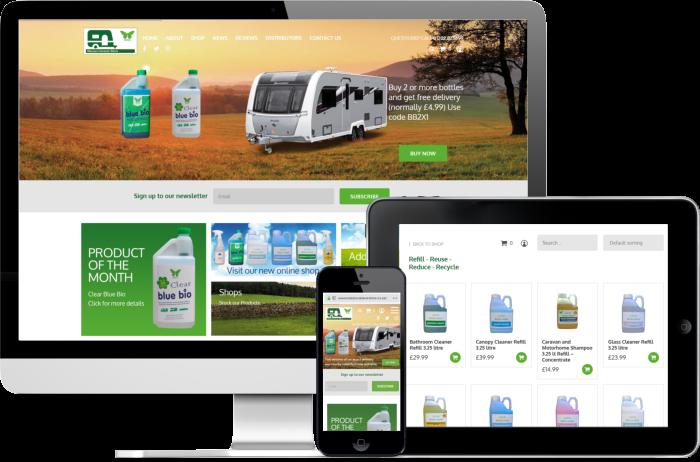 Wessex Caravan Store website