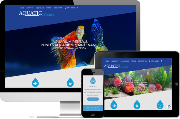 Aquatic Solutions website