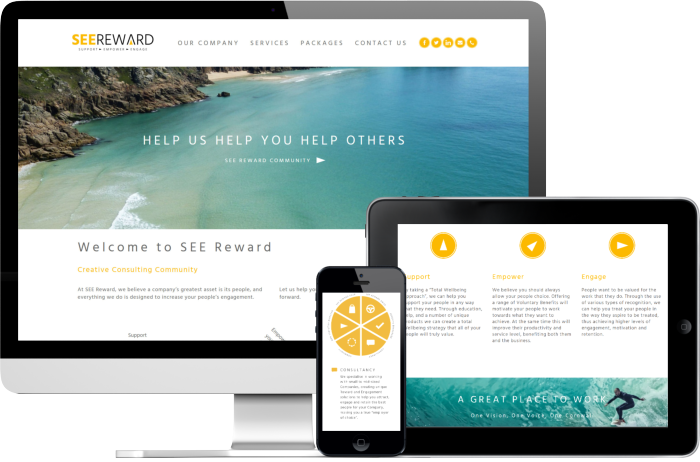 SEE Reward website